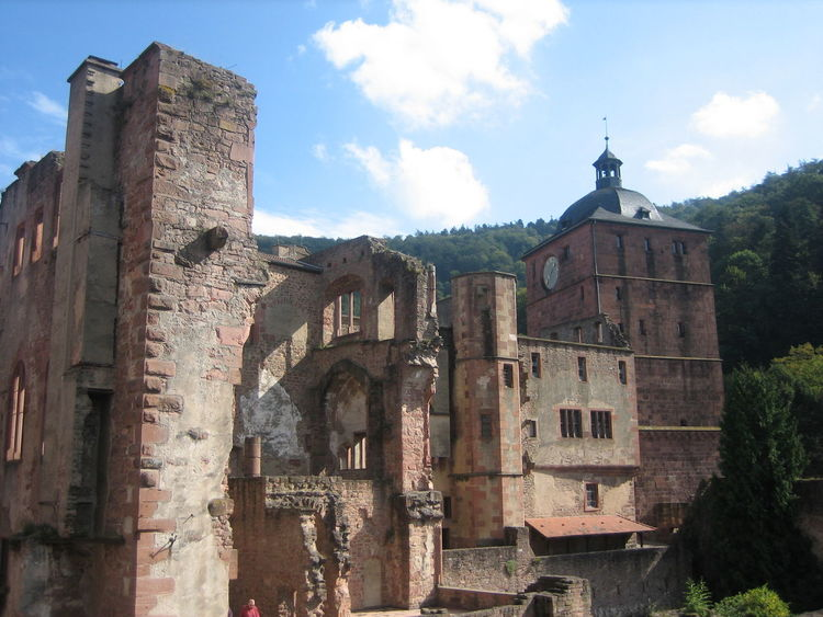 Heidelberg, Germany 2006 Architecture Building Exterior Built Structure Clock Clock Face Clock Tower Cloud - Sky Day History Low Angle View No People Outdoors Sky EyeEmNewHere