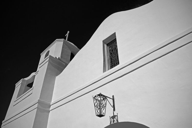 Adobe Architecture Arizona Black And White Building Building Exterior Built Structure Church Desert Eric Barnes Photography Exterior Low Angle View Mission No People Religion Southwest  Wall