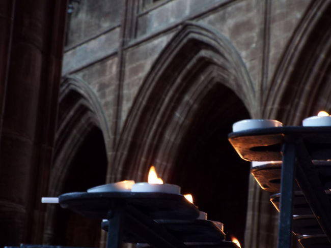 Arch Arches Architecture Cathedral Light And Dark Candles Burning Candles Cathedral Decor
