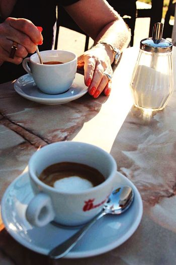 ☕️ Coffee Cup Coffee - Drink Drink Food And Drink Refreshment Cup Human Hand Human Body Part Real People One Person Table Holding Drinking Cafe Women Freshness Men Lifestyles The Week Of Eyeem The Week On Eyem EyeEmNewHere The Secret Spaces Photography Breakfast