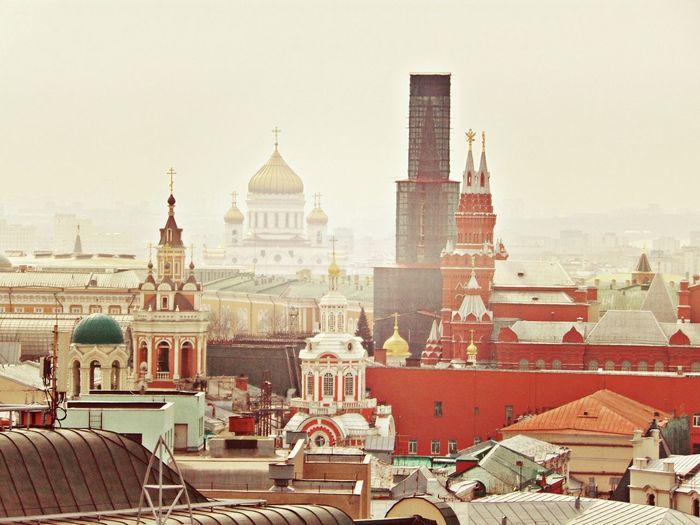 Москва крыша ХрамХристаСпасителя краснаяплощадь