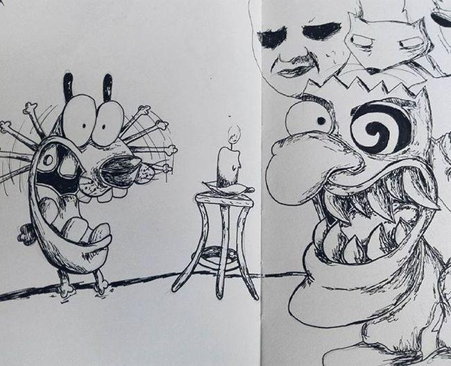 Fear no more Courage Drawing Sketch Art Colombianart Sketchbook Couragethecowardlydog Fanart