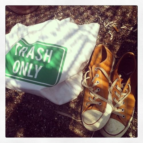 Summer Clairefontainebag Sneakers Trashonly beach vacation orange sand joy contemporary art