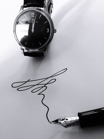 Jaeger Le Coultre Ultra Thin Montblanc Noir Et Blanc Stylo Watches Ink