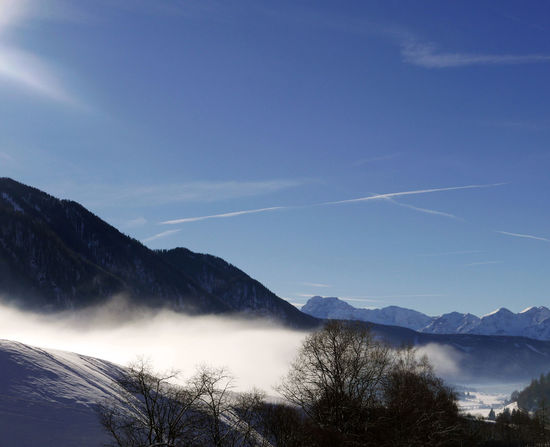 Beauty In Nature Blue Fog Foggy Mountain Scenics Tranquil Scene Tranquility Val Pusteria Vapor Trail