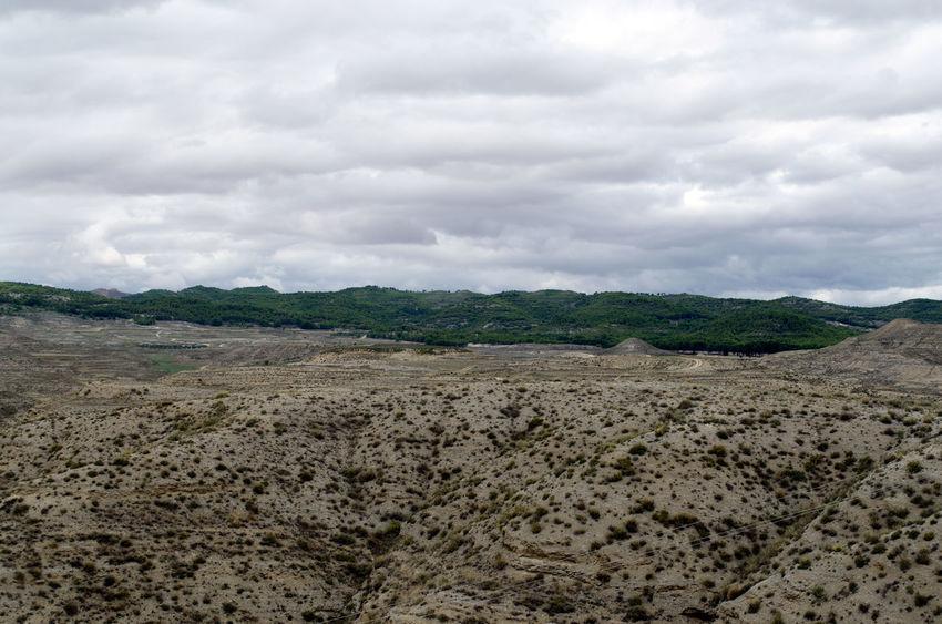Calatayud, la ciudad de los castillos, visión desde lo alto. 2015  Beauty In Nature Calatayud Cloud - Sky Day Eddl Green Color Landscape Nature No People Outdoors Scenics Tranquility