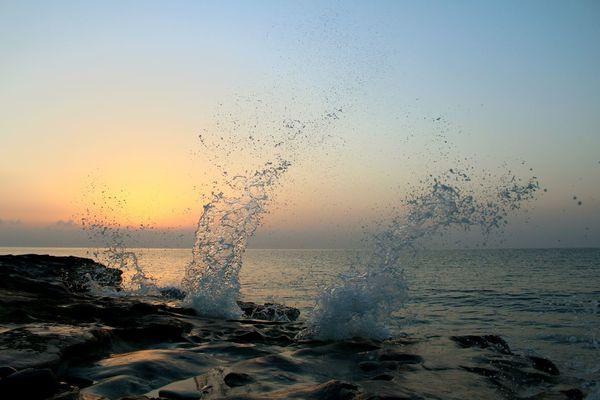 Photography In Motion Sunrise Waves Aqua Beautiful Nature Wildnature Capture The Moment Awsomephotography Island Life Cyprus Nature