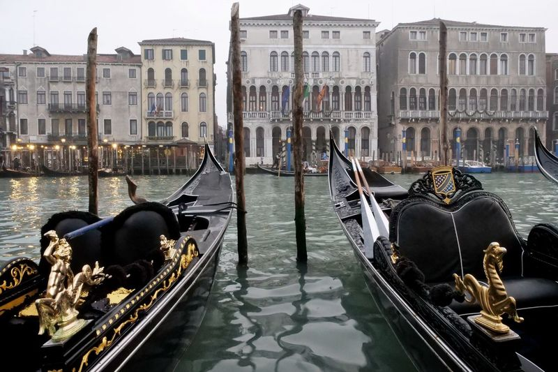 Venezia Italy Canale Grande Gondola - Traditional Boat Water City Cultures Canal Architecture Building Exterior Built Structure Gondolier Veneto Palace Gondola Water Vehicle Venice - Italy Nautical Vessel The Traveler - 2019 EyeEm Awards