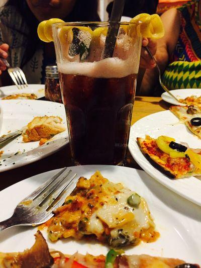Lasagne Pizza BlackberryIceTea For EyeEm Foodies. Afterworkout