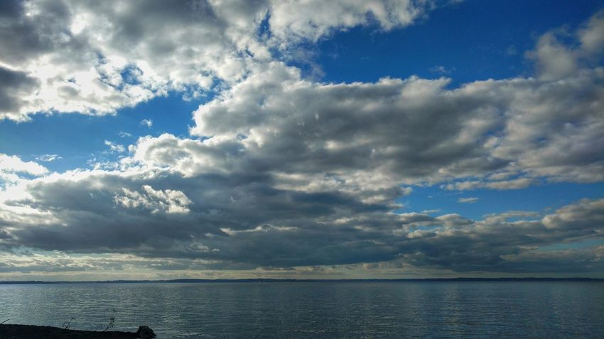 Chile Llanquihue Lake Cloudy Clouds Landscape CL Nature Water