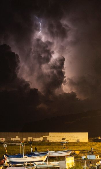 Night Storm Lightning Sky Cloud - Sky Architecture Night Water Built Structure Building Exterior