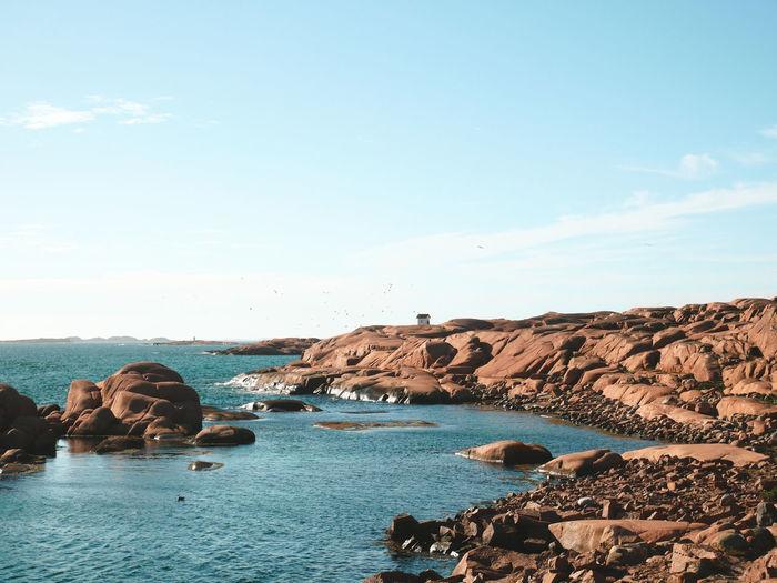 Scenic view of swedish west coast