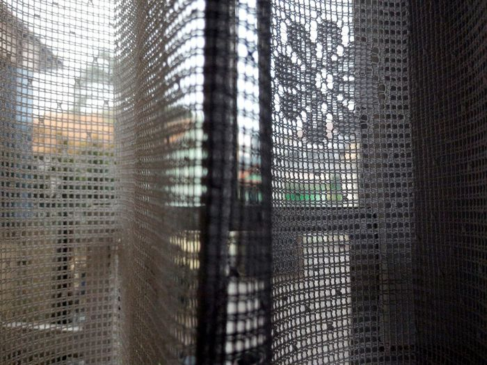 Full frame shot of netted fabric