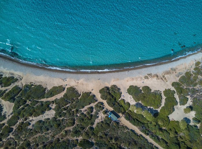 Water High Angle View Sea Day No People Nature Land Beach Aerial View Outdoors Full Frame Blue Beauty In Nature Scenics - Nature Tranquility Turquoise Colored