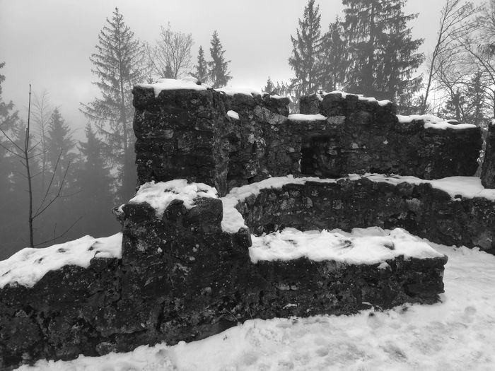 Building History Germany First Eyeem Photo FirstEyeEmPic First Eyem Photo Photo Photography Travel Travel Destinations Ruin Ruins History Tree Snow Cold Temperature Winter Snowing Sky Famous Place Old Ruin Civilization
