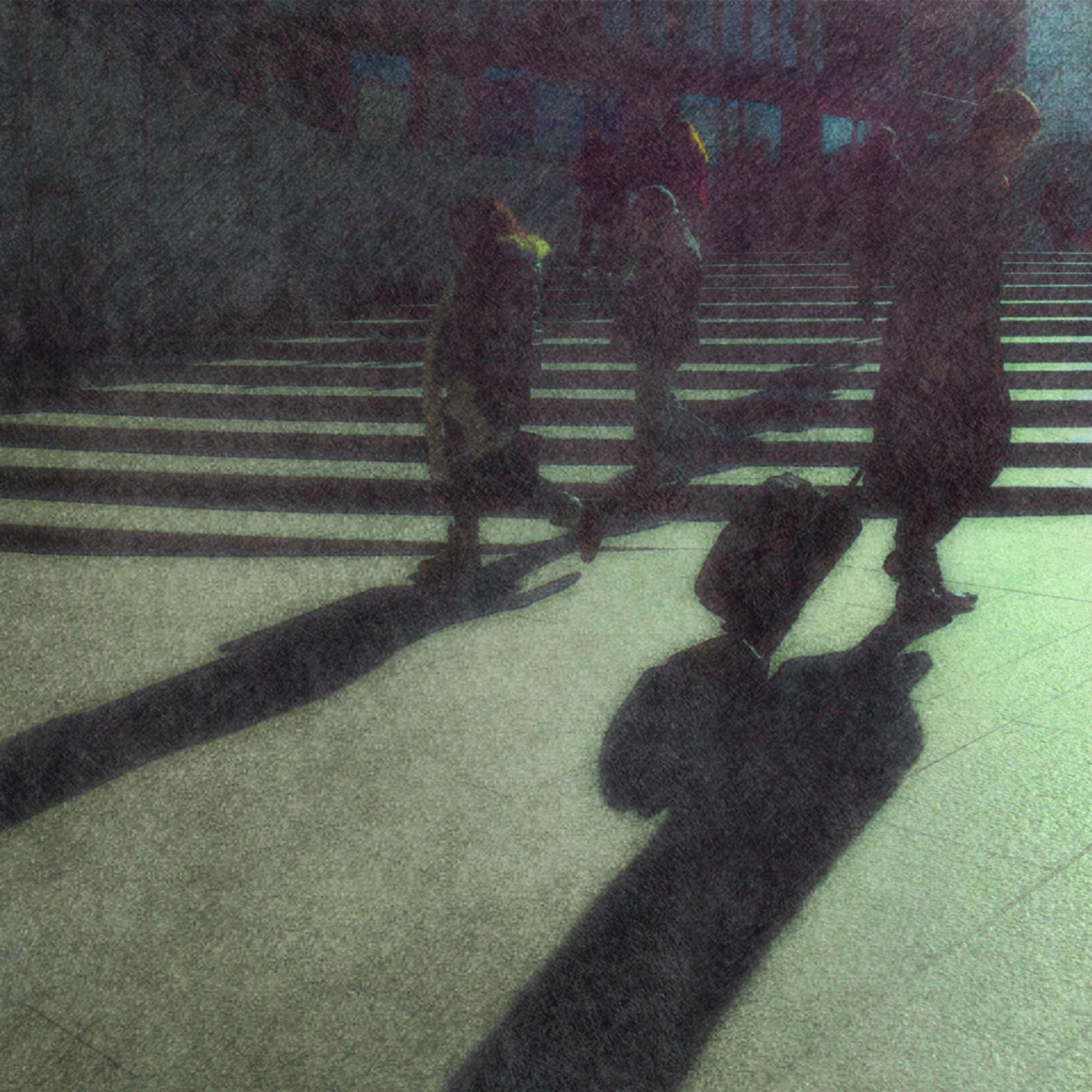 shadow, lifestyles, focus on shadow, men, silhouette, leisure activity, high angle view, sunlight, walking, person, unrecognizable person, street, togetherness, outline, standing, outdoors, night