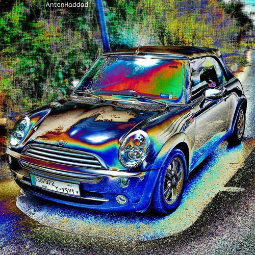 If my mini was painted in chrome, but its just metallic blue fr now. Mini Cooper EyeEm Best Edits NEM SciFi MOB Fiction Magazine