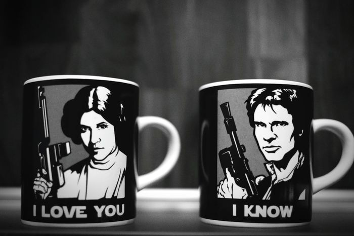 Love Indoors  Close-up Esspresso Cup Coffee Cup Starwars Princess Leia Han Solo Han Solo & Leia Harrison Ford Carrie Fisher I Love You I Love You ❤
