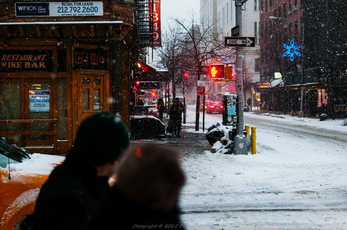The Places I've Been Today Taking Photos Streetphotography Street Photography Snow Snowing NYC Photography NYC Taxi West Village