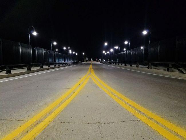 Road Yellow Illuminated Night No People Outdoors Street Light