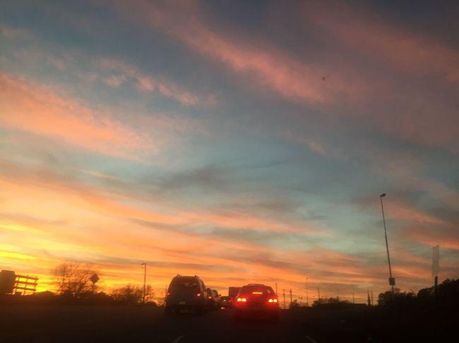 Beautiful sunset just evening😱😍😍😍😍🌄☁️❄️🌳🚙