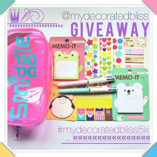 Awesome giveaway from @mydecoratedbliss Mydecoratedbliss5k
