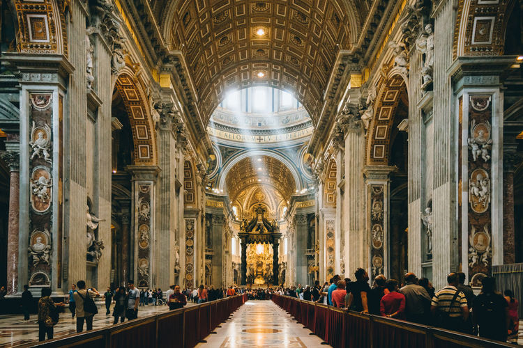 Arch Architectural Column Architecture Architecture Architecture_collection Baroque Architecture Built Structure Church Columns EyeEm Famous Place Gold Illuminated Italy Light Light And Shadow Lines Nikon Perspective Place Of Worship Vanishing Point VSCO