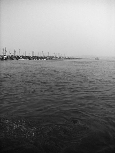 Bank Of River Ganga Allahabad, Sangam Allahabad Blackandwhite Blackandwhite Photography Water
