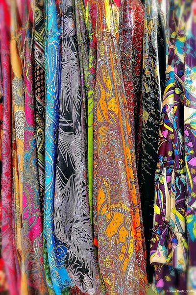 Einfach nur bunt (2) Bunt Farbig Stoffmarkt Stoffe Photoshop Ibiza Hippiemarkt