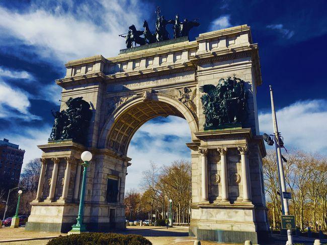 Festival Season GrandArmyPlaza Arch Brooklyn Sky Brooklyn Public Library USA America