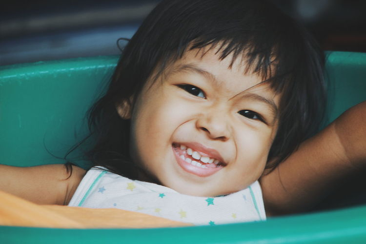 Portrait of smiling cute girl