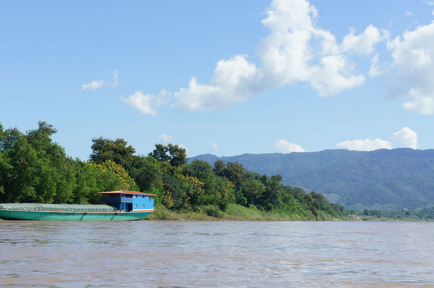Beauty In Nature Blue Cloud - Sky Day Forest Lake Landscape Mekong Mekong River Mountain Nature Nautical Vessel No People Outdoors River Cruise River View Riverscape Riverside Scenics Sky Tranquility Travel Destinations Tree Water