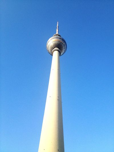 TV Tower Fernsehturm Architecture Tall - High Blue Built Structure Building Exterior Low Angle View Tower No People Clear Sky Travel Destinations Tourism