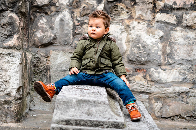 Baby day out Childhood Child Casual Clothing Males  Boys Men Innocence Outdoors One Person Kids Model Kids Toddler  Toddlerlife Two Years Old Baby Day Out Clothing Baby Clothing Toddler Model Full Length Portrait Jeans Sitting