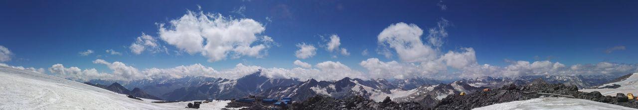 Elbrus EyeEm Selects Mountain Mountains Sky Nature Profi Elbrus Rock Cliff Stones Russia Panorama Blue Sky Cloud - Sky Cloud Be Brave