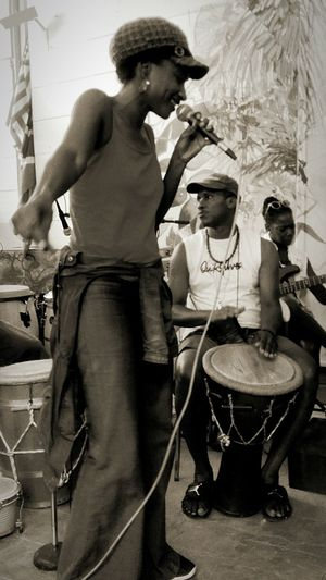 Black And White Blackandwhite Photography 3XSPUnity Guadeloupe Family Moments #le Petit Jardin FWI Music Photography  GwaSound Gwo Ka Arts Culture And Entertainment Taking Photos Percussionist Men Musician Musical Instrument Sitting Drummer Drum - Percussion Instrument Bass Guitar Musical Equipment