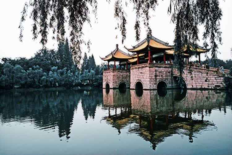 Chinese style Chinese Style Chinese Landscape Chinese Landscape Architecture Shandong Riverview China Tree Water Lake Reflection History Sky Architecture Building Exterior Built Structure Pavilion #urbanana: The Urban Playground A New Perspective On Life Holiday Moments EyeEmNewHere My Best Photo