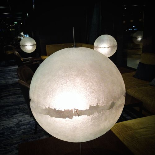 I want one of these! Night Indoors  Illuminated No People Close-up Orbs Lights Spheres Sphere Lamp Lamp Lighting Hotel Lobby Silverlining Silver Lights Spherical Interior Design Hotel Interior Away From Home Huawei P10 Plus EyeEmNewHere Art Is Everywhere Lighting Effect Cosy Atmosphere Atmospheric Light Atmospheric Light Moods & Feelings