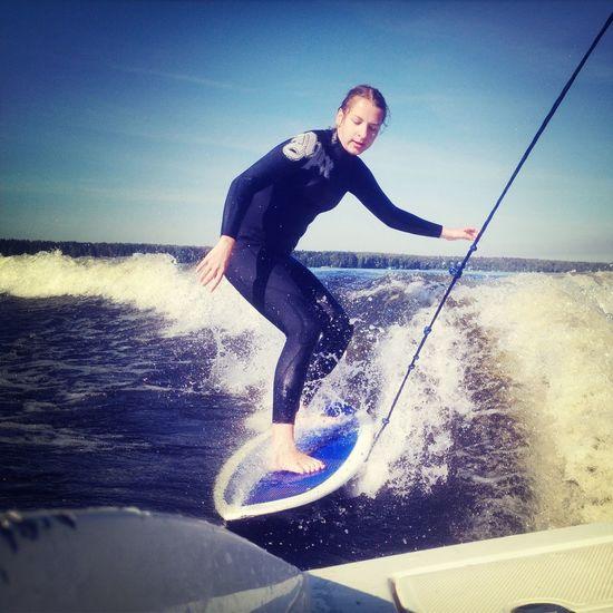 Wake Surf First Eyeem Photo