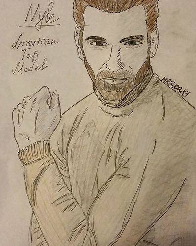 @nyledimarco you're awesome! Russia loves you ❤❤❤ Nyledimarco Tyrabanks Americantopmodel Model Drawing Scetching Scetch Sexy Scetchbook Picture Love Boys Mrfweaky