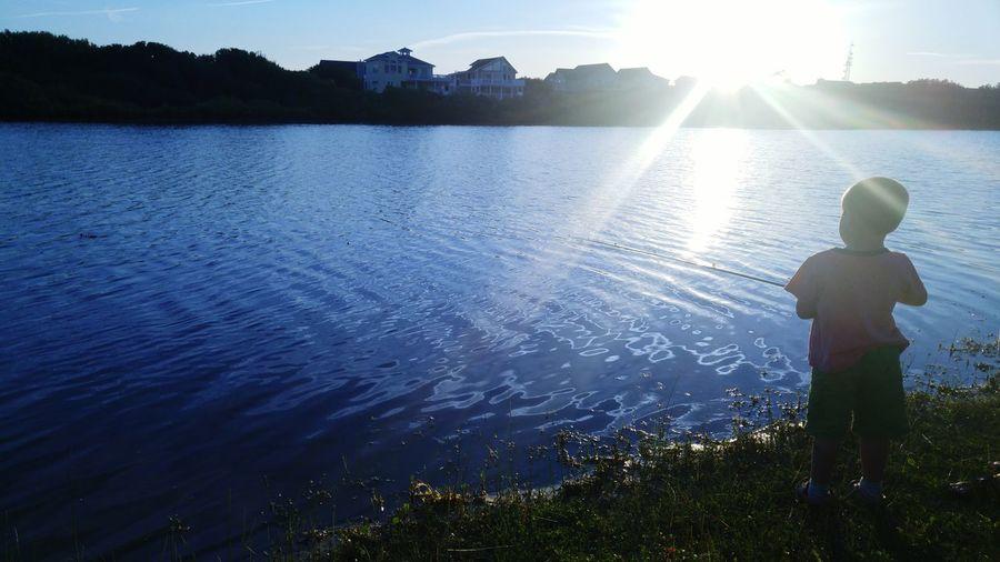 Fishing, Lake, Pond, Boy First Eyeem Photo