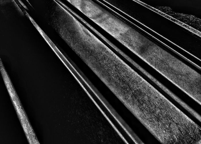 Off the rails. Abstract Abstraction Stainless Steel  Black And White Black And White Photography Abstract Photography Black & White Still Life Abstracted Kitchen Surface Draining Board Surfaces And Textures Textures And Surfaces Surface Shadows & Lights Shadows Shadow And Light