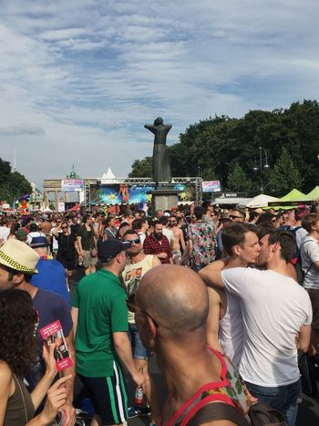 Check This Out Look Closer Gay Pride Prideparade Pride Parade Pride CSD Berlin 2016 CSD Lgbt Berlin Adventure Club Colour Of Life Couple Love Pivotal Ideas Kissing People Together