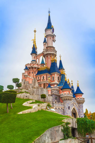 Disneyland Paris EyeEm Selects Palace Architecture Travel Destinations Travel Tourism Outdoors Building Exterior Fun Amusementpark Europe Paris France