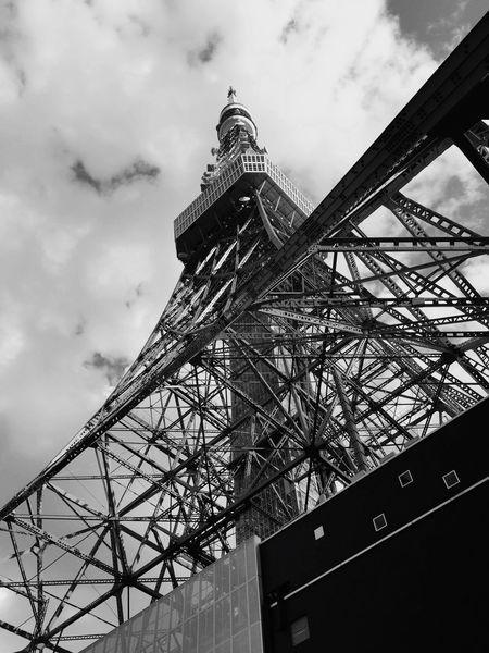 Tokyo tower Low Angle View Architecture Sky Built Structure Cloud - Sky Building Exterior Nature