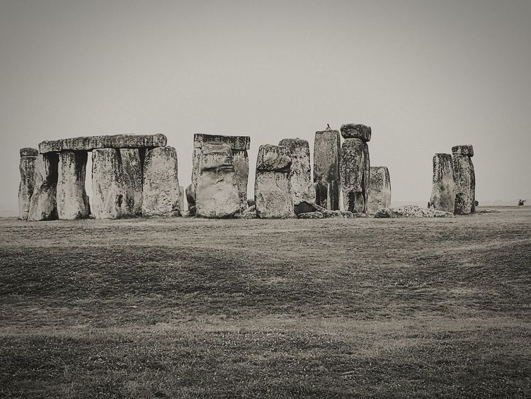 History Ancient Old Ruin No People Outdoors Ancient Civilization Travel Destinations Beauty In Nature Your Ticket To Europe Architecture Vacations Landscape Black And White Portrait Black And White Collection  Blackandwhite Photography Black And White England 🇬🇧 Stonehenge Stonehenge Memorial