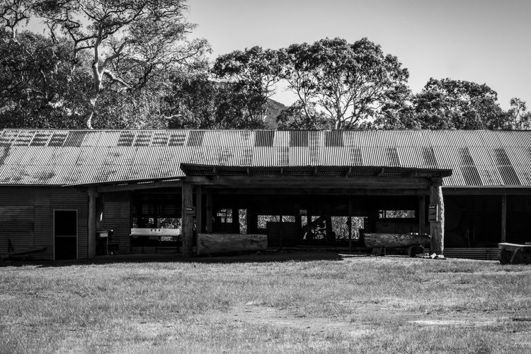 Old sawmill at Dunkeld, Victoria. Dunkeld, Victoria, Australia Sawmill Abandoned Architecture Black And White Photography Building Building Exterior Built Structure Damaged Day Field Grass House Land Landscape Museum Nature No People Old Old Buildings Old Sawmill Outdoors Plant Rusty Roof Weathered
