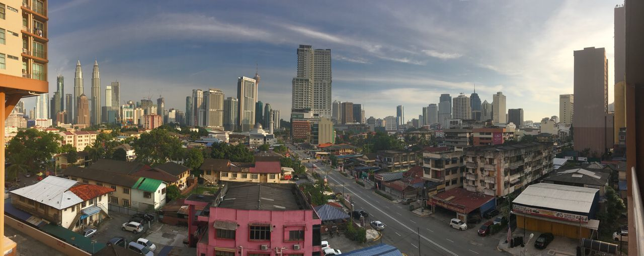 Kuala Lumpur City in panoramic view Architecture Building Exterior City Skyscraper Cityscape Built Structure Sky Outdoors Modern No People Day Travel Destinations Urban Skyline Transportation Architectural Column Panorama Kuala Lumpur Sea Games 2017 IPhone7Plus
