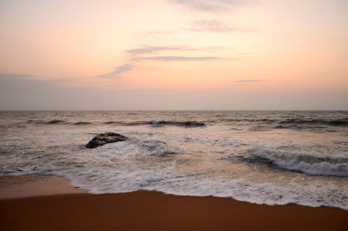 Relaxing Taking Photos Enjoying Life Time To Travel Holiday Sea View Sea And Sky Sunset Sri Lanka