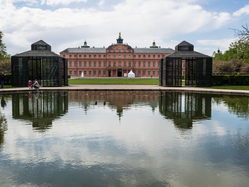 barock castle and park of Rastet Castle Architectural Column Architecture Building Exterior Built Structure Cloud - Sky Day History Nature Outdoors Reflection Sky Tourism Travel Travel Destinations Water Waterfront